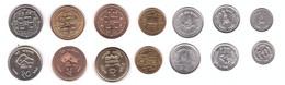Nepal - Set 7 Coins 10 25 50 Paise 1 2 5 10 Rupees 1994 - 2009 AUNC / UNC Lemberg-Zp - Nepal