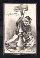 *(09/09/21) ILLUSTRATEUR SIGNE - CPA MOLYNK - CARICATURE - SATIRIQUE - ARRET OBLIGATOIRE - ALCOOLISME - Other Illustrators