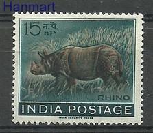 India 1962 Mi 346 MNH  (ZS8 IND346) - Rhinoceros