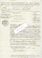 1791 Vente Biens Nationaux /Terre Des Religieuses Ste-Marguerite De Strasbourg / Reichstett /Généralité Extraordinaire - Historical Documents