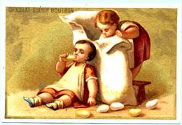 RARE Chromo Chocolat Guérin-Boutron. Enfants Avec Des Friandises. Les Bonbons. Imp. Appel 3-1-25/5. - Guérin-Boutron