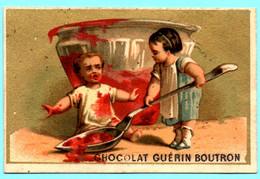 RARE Chromo Chocolat Guérin-Boutron. Enfants Avec Des Friandises. La Marmelade. Imp. Appel 3-1-25/6. - Guérin-Boutron