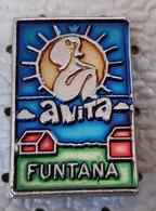 FUNTANA FKK Naturist Camp Anita  Pin Up Naked Woman Coat Of Arms  Croatia Pin - Città
