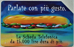 TARJETA TELEFONO DE TELECOM ITALIA 10000 LIRE 1999 TIRADAS UN MILLON - Openbare Reclame