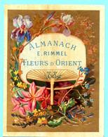 Une Chromo RIMMEL Almanach Calendrier 1884, Fleurs D'Orient. Mois Janvier Et Février. - Small : ...-1900