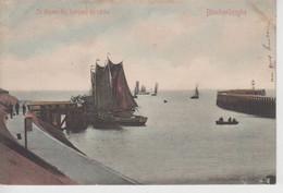 CPA Précurseur Blankenberghe (Blankenberge) - Le Départ Des Barques De Pêche (carte Colorisée) - Blankenberge