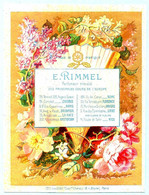Une Chromo RIMMEL Almanach Calendrier 1884, Fleurs D'Orient. Mois Novembre Et Décembre. - Small : ...-1900