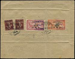 """SYRIE Poste Aérienne LET - 4 (x2) + 5/6, Sur Enveloppe (plis) """"Alep 22/9/21"""" Pour Alexandrette - Cote: +560 - Non Classés"""