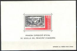Andorra Fr., 1982, Exposition Officielle Des Timbre D'Andorre, Feuillet, 4,00 F, MNH** - Blocks & Kleinbögen