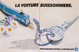Publicité Papier RATP RER METRO Juin 1978 PM 1516 P1056719 - 2 Pages - Werbung
