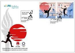 Turkey 2021 FDC TOKYO 2020 SUMMER OLYMPIC GAMES JO - Verano 2020 : Tokio