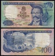 Portugal - 100 Escudos Banknote 1965 - Pick 169a  VF (3)   (22942 - Portugal