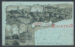 Lithographie Bielefeld, Der Sparrenberg, Sparrenburg, Post - Bielefeld