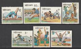 VIETNAM - N°567A/G ** (1984) J.O D'été à Los Angeles - Vietnam