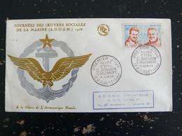 LE BOURGET - SEINE SAINT DENIS - FDC 1er JOUR YT 1213 PILOTES D'ESSAI OEUVRES SOCIALES DE LA MARINE - 1950-1959