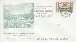 FDC 1960 COMMUNES D'EUROPE CANNES - 1960-1969