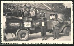 Fotografie Lastwagen, LKW Pritsche Als Festwagen, Sodawasser-Fabrik Wien - Automobili