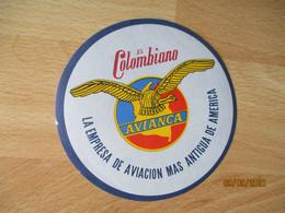 Avianca El Colombiano Aviation Etiquette Valise Bagage - Adesivi Di Alberghi