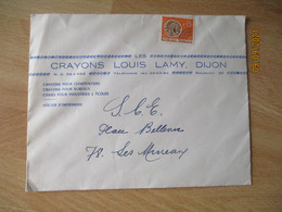 Crayons Louis Lamy Dijon Enveloppe Commerciale - 1900 – 1949