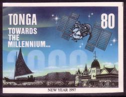Tonga Cromalin Proof 1996 Year 2000 Milennium - Space Satellite - Canoe - 5 Exist, Read Description - Oceania