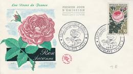 FDC 1962 ROSES DE FRANCE - 1960-1969