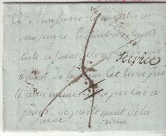"""Lettre  De La Maison D'Arrêt  De Verdun Avec Marques """"53 / Verdun S. Meuse"""", """"Service"""", Taxe Biffée, Voir Texte, 1807 - 1801-1848: Vorläufer XIX"""