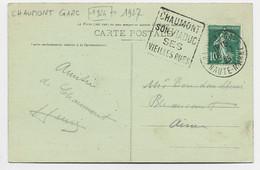 N° 159 CARTE DAGUIN CHAUMONT SON VIADUC CHAUMONT GARE 16.2.25 HAUTE MARNE - Mechanical Postmarks (Advertisement)