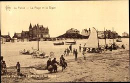 CPA La Panne Westflandern, La Plage, La Digue - Other