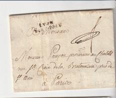 """Lettre Avec Marque  """"Lyon / Port Payé """" Pour Paris, 1776 (?) - 1701-1800: Voorlopers XVIII"""