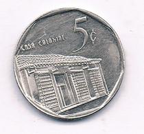5 CENTAVOS  1998 CUBA / 6889/ - Cuba
