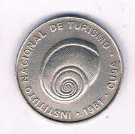 5 CENTAVOS  1981 (intur) CUBA / 6890/ - Cuba