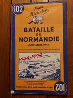 BATAILLE DE NORMANDIE CARTE PICHELIN JUIN-AOUT 1944 EDITION 1994 PARFAIT ETAT BATTLE OF NORMANDY - 1939-45