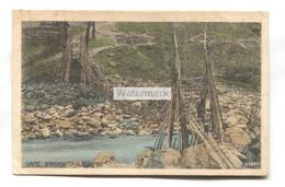 Darjeeling, Cane Bridge - Old India Postcard - India