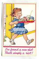 Mollie Grey - Girl On A New Diet - C1950's Artistic Postcard - Altre Illustrazioni