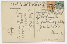 N° 130+158 REPLIES CARTE  DAGUIN NICE PAYS DU SOLEIL ET DES FLEURS NICE PL. GARIBALDI 18.9.24 ALPES MMES RARE - Mechanical Postmarks (Advertisement)