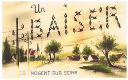 10  UN BAISER  DE  NOGENT SUR SEINE    CPM  TBE   857 - Nogent-sur-Seine