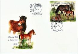 Czech Republic - Exmoor Ponies, FDC, 2021 - Cavalli