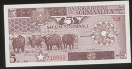 Somalia 5 Shillings 1986 Pick 31b UNC - Somalia
