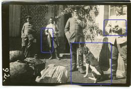Allemande  Photo - 02 (Aisne) Lanchy ( St.Quentin) Deutsche Soldaten Hund Karabiner Soldatenleben WWI 14/18 - 1914-18