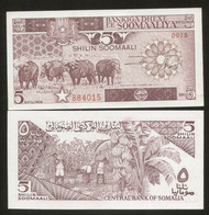 Somalia 5 Shillings 1987 Pick 31c UNC - Somalia