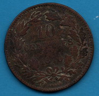 LUXEMBOURG 10 Centimes 1870  KM# 23 Willem III - Luxembourg