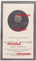 Oorlog Guerre Sidonie Mullier Lichtervelde 1858 En Overleden Met De Bevrijding Van Wingene 1 November 1918 Vereecke - Devotion Images