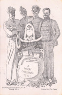 """From Stalag VIII B To Palestine WWII POW Drawn By Thomas Burke Stalag XX A Printed By """"The Camp"""" Christmas Card - Storia Postale"""