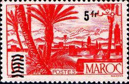 Maroc (Prot.Fr) Poste N** Yv:298 Mi:324 Oasis Atlas & Palmeraie - Unused Stamps