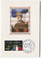 Général De Gaulle - Photo Sur Soie Oblitération Du 40ème Anniversaire De La Libération Antony (92) - Timbre YT- 2114 - De Gaulle (Général)