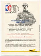 Général De Gaulle - Publicité Aéroport De Paris FDC YT 2656 Commémoration Du Cinquantenaire Appel Du 18 Juin 1940 - 1990-1999