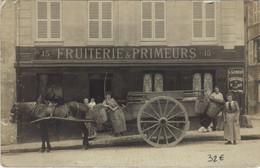 CPA Carte Photo PARIS 11e 15, Passage St-Antoine Fruiterie Et Primeurs BOUTIQUE (16944) - Arrondissement: 11