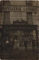 CPA Carte Photo PARIS 12e 133 Rue Du Fb St-Antoine Chapellerie LACHAUD Chapeaux Hats BOUTIQUE (16956) - Arrondissement: 12