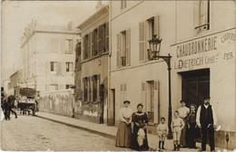 CPA Carte Photo PARIS 15e Rue Ginoux Chaudronnerie L. Dietrich (17007) - Arrondissement: 15