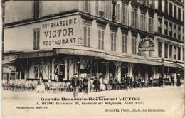 CPA Gde Brasserie-Restaurant VICTOR PARIS 17e 30 Bd Des Batignolles (17038) - Arrondissement: 17